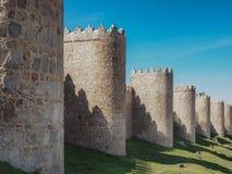 Mur de ville d'Avila, Espagne Photographie stock libre de droits