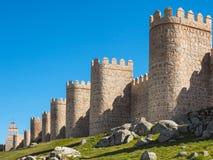 Mur de ville d'Avila, Espagne Photo libre de droits