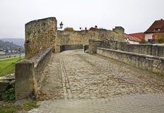 Mur de ville dans Bardejov slovakia Images libres de droits