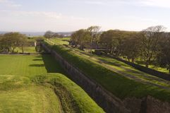 Mur de ville de Berwick Images libres de droits
