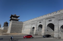 Mur de ville de Datong Photos libres de droits