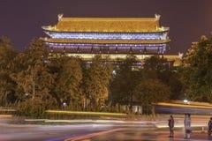 Mur de ville de tour, Xian Images libres de droits