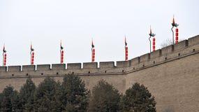Mur de ville de Xian (xi'an) Photographie stock
