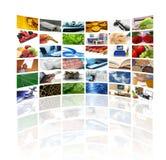 Mur des écrans de TV Photo libre de droits