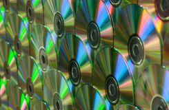 Mur des arcs-en-ciel CD images stock