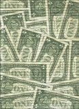 Mur des billets de banque d'un dollar Image stock