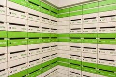 Mur des boîtes de courrier Image libre de droits