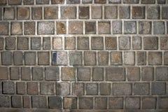 Mur des briques foncées Photos libres de droits