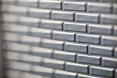 Mur des briques métalliques Images stock