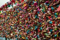 Mur des cadenas à Séoul image stock