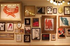 Mur des cadres de photo Photo libre de droits