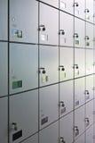 Mur des casiers Photographie stock