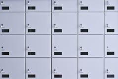 Mur des casiers. Images stock