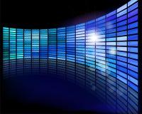 Mur des écrans Photo stock