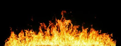 Mur des flammes photos stock