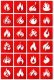Mur des flammes Photos libres de droits
