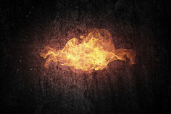 Mur des flammes illustration stock