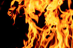 Mur des flammes image libre de droits