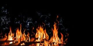 Mur des flammes photo stock