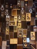 Mur des haut-parleurs bruyants Images libres de droits