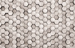 Mur des hexagones concrets Photos stock