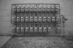 Mur des mètres Photo libre de droits