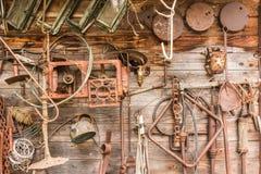 Mur des outils de vintage Photos stock