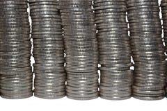 Mur des pièces de monnaie image stock