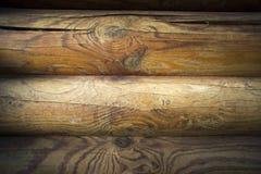Mur des planches en bois foncées Photo stock