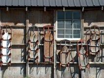 Mur des traîneaux Image libre de droits