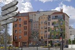 Mur-desen Canuts i Croix-Rousse Royaltyfri Foto