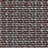 Mur dessiné abstrait rouge et noir de sang illustration de vecteur