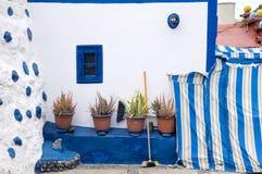 Mur du bâtiment dans le village de pêche de Puerto De Las Nieves, mamie Canaria, Espagne Photographie stock