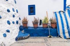 Mur du bâtiment dans le village de pêche de Puerto De Las Nieves, mamie Canaria, Espagne Image libre de droits