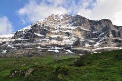 Mur du nord de montagne d'Eiger, Suisse Photos libres de droits
