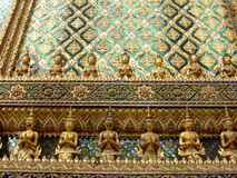 Mur du palais grand, Bangkok, Thaïlande. Photos stock