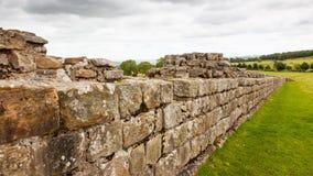Mur du ` s de Hadrian dans le Northumberland photographie stock
