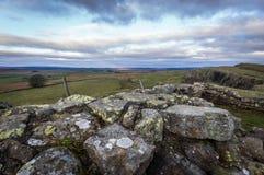 Mur du ` s de Hadrian, le Northumberland photo stock