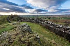 Mur du ` s de Hadrian, le Northumberland photo libre de droits