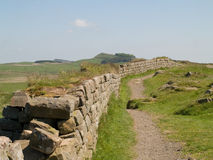 Mur du ` s de Hadrian, le Northumberland Images stock