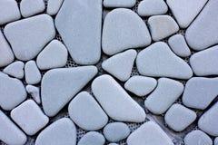 Mur effectué à partir de la pierre polie Image libre de droits