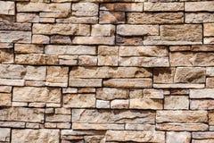 Mur empilé de pierre et de mortier Photographie stock libre de droits