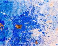 Mur en acier bleu Photos libres de droits