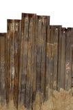 Mur en acier rouillé Photo stock