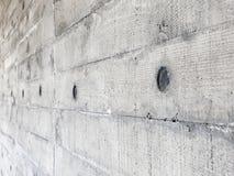 Mur en béton avec la texture en bois de conseil photos libres de droits