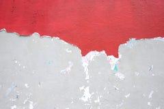 Mur en béton criqué Photos libres de droits