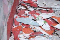 Mur en béton criqué Image stock