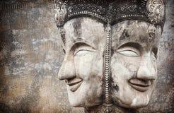 Mur en béton de Bouddha et de fente Photographie stock libre de droits