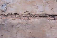Mur en béton et vieillesse de brique rouge Photographie stock