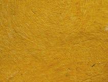 Mur en béton jaune Images libres de droits